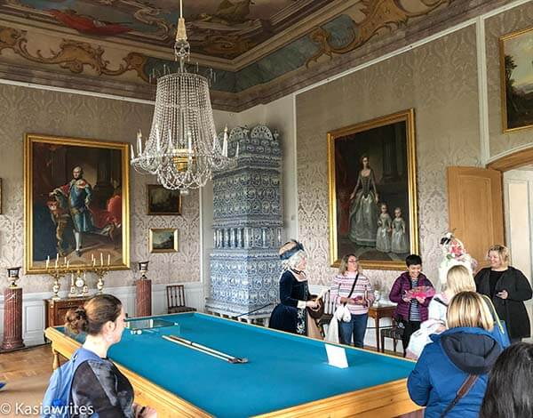 billiards room in Rundale Palace