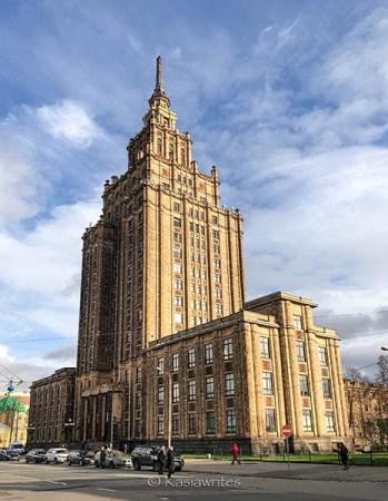 Latvian Academy of Sciences building in Riga