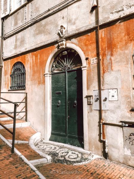 old door in Genoa