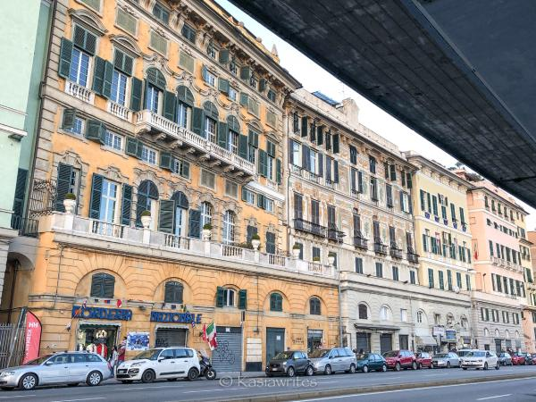 colourful buildings in Genoa