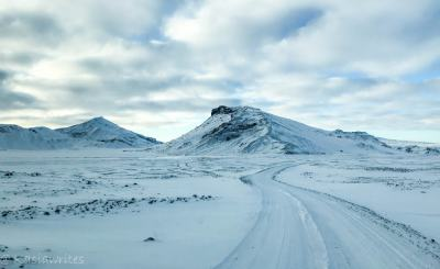 ice covered mountain in Iceland