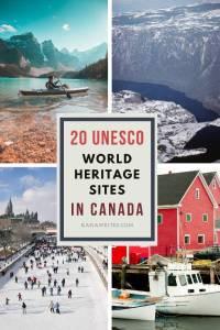 UNESCO WORLD HERITAGE SITES IN CANADA