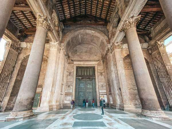 entrance to Pantheon in Rome