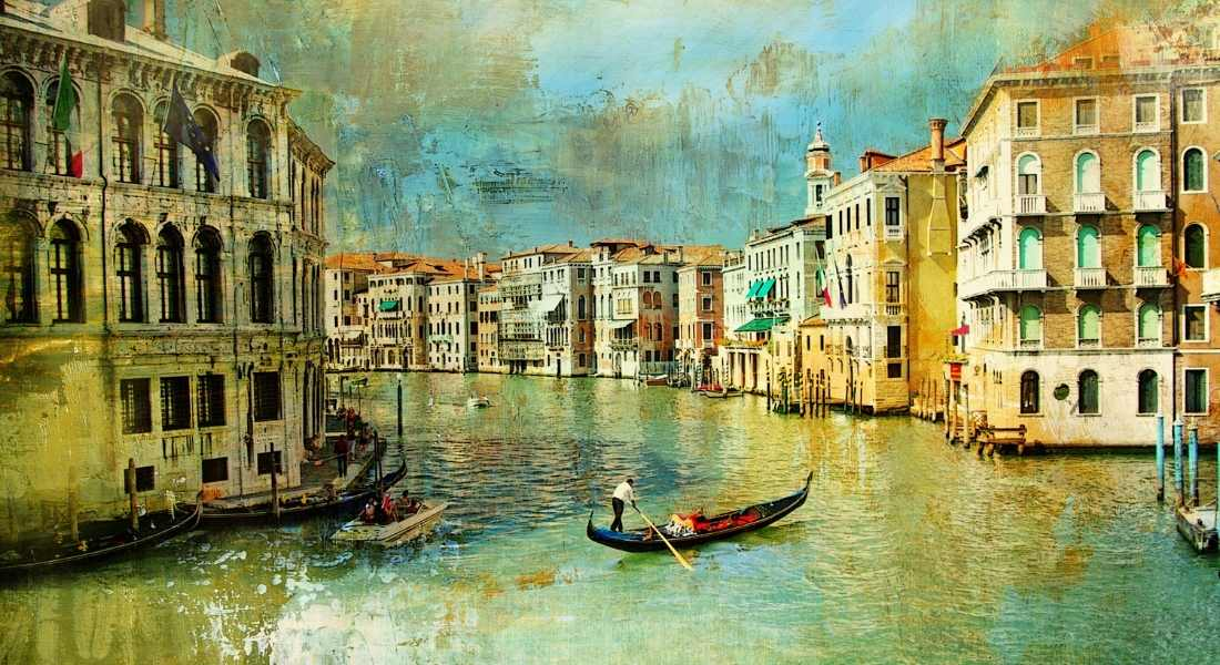 painting of Venice a stop on the Grand Tour of Europe