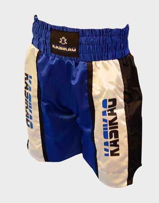 pantalón de boxeo azul tricolor para hombres buen precio