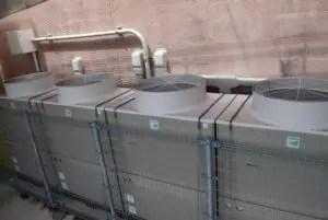 年数の経過した古い建築のマンションで空調設備が一体になっているマンションも・・