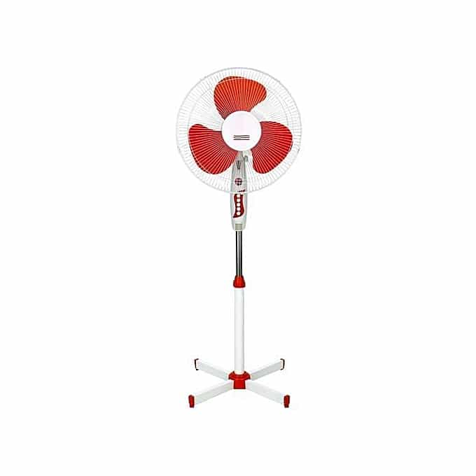 STERLING 16'' Electric Stand Fan SSF101 - White & Red