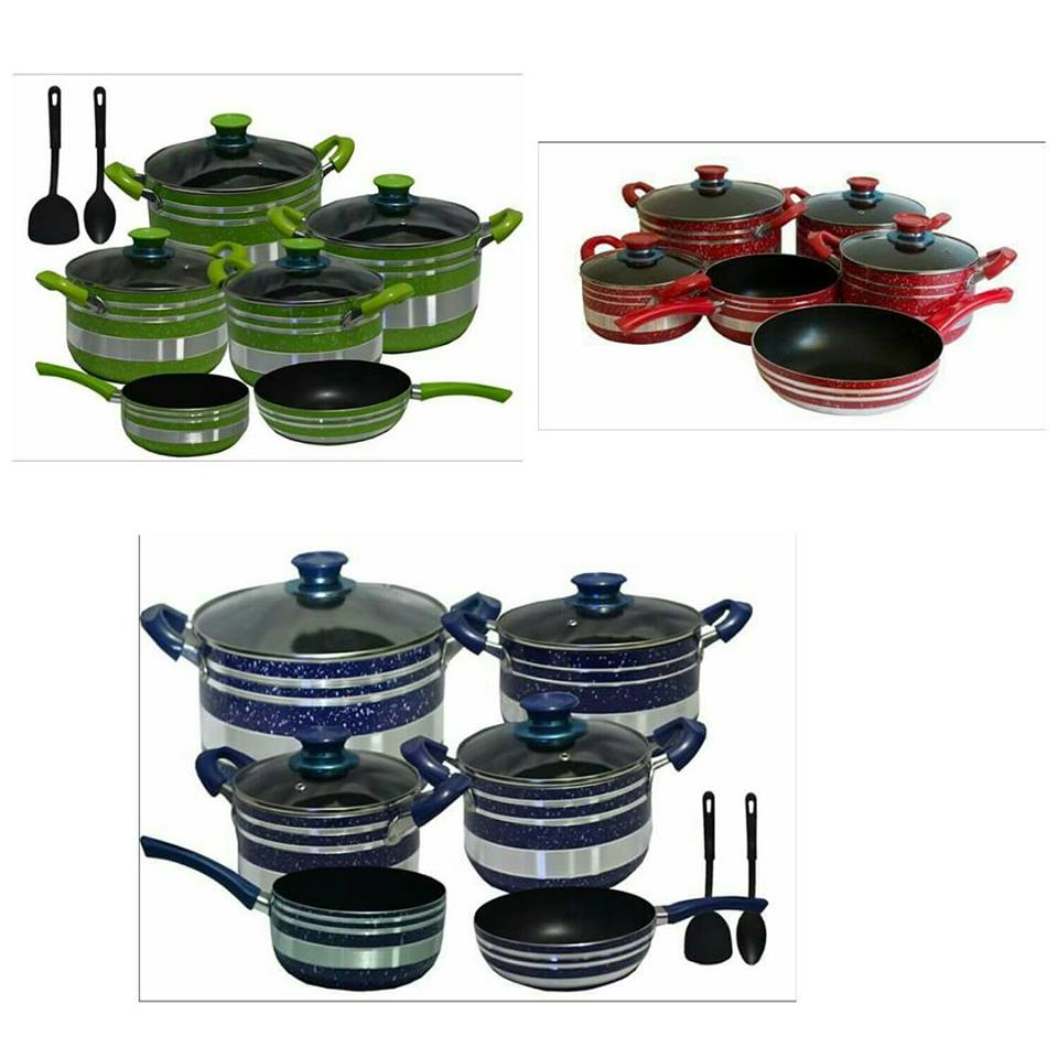 12pcs non stick cookware set.