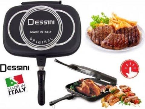 Dessini 40 cm Double Sided Grill Non-stick Pressure Pan