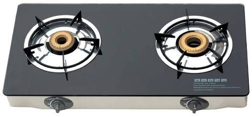 Two burner Glass gas stove cook top