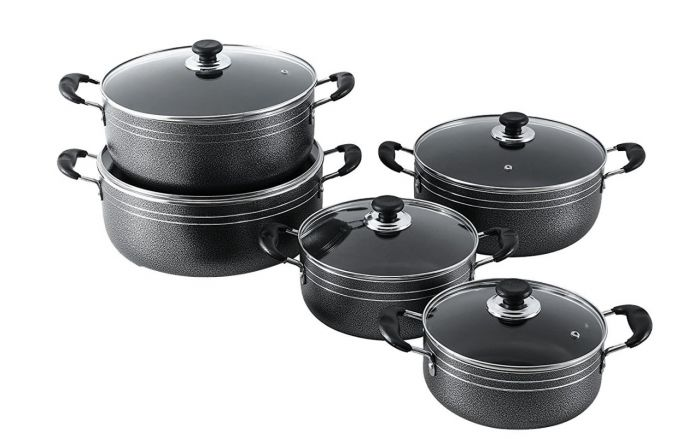 10pcs non stick cookware set