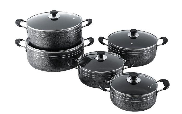 10pcs non stick cookware set