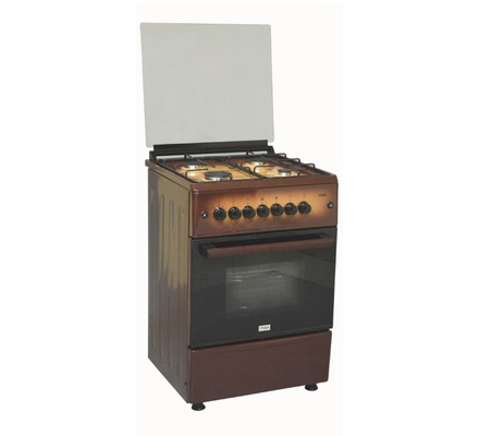 Standing Cooker, 60cm X 60cm, All Gas, Gas Oven, Dark Brown