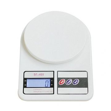 Electronic Kitchen Digital Weighing Scale, Multipurpose, White, 10 Kg