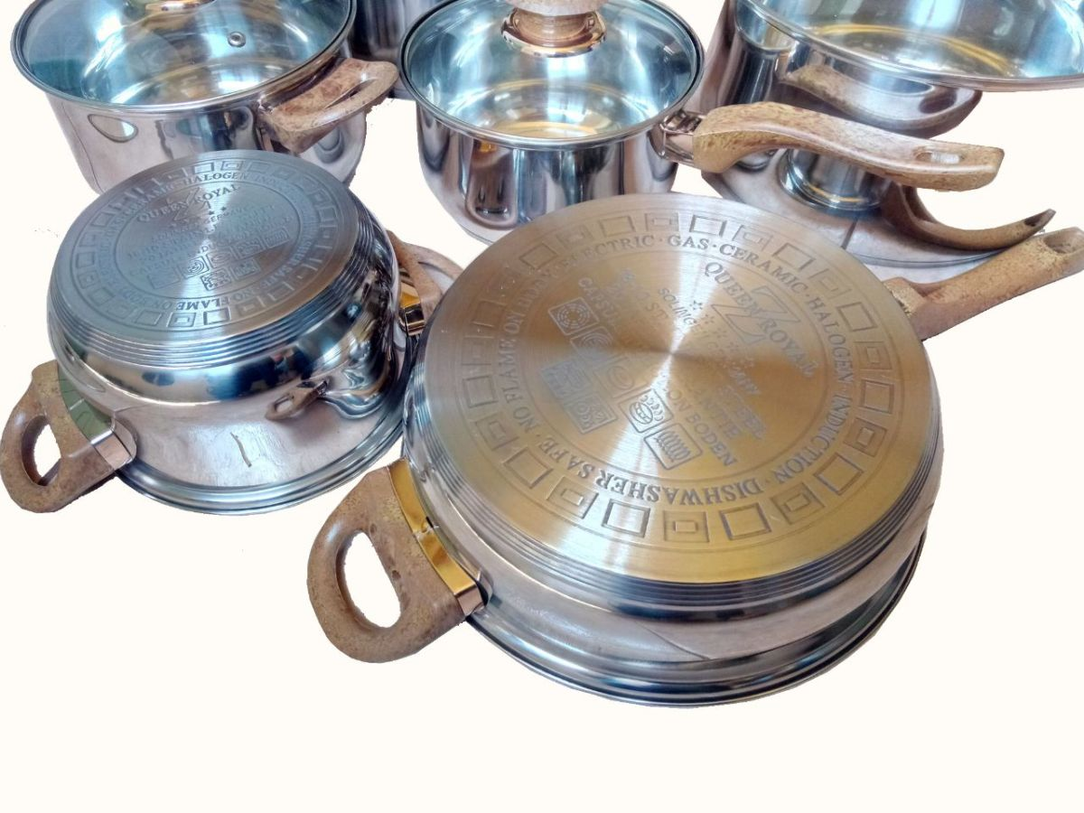 12pcs Stainless Steel cookware set-Heavy Duty