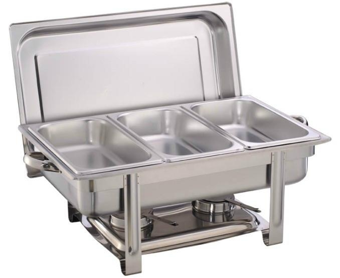 Triple compartment chaffing dish