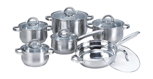 vicalina 12pcs cookware set(stainless steel)