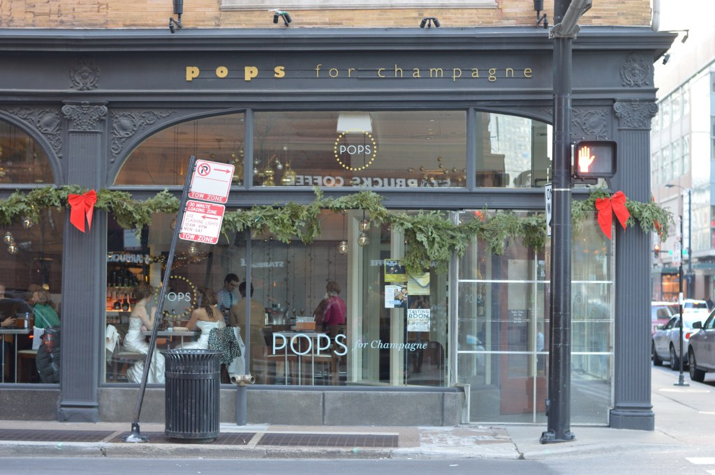 This is POPS Champagne, another popular champagne salon to visit