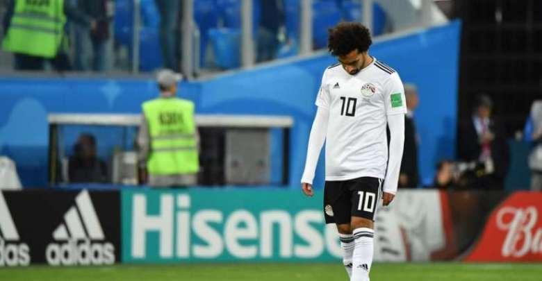 Hasil gambar untuk Mohamed Salah marquant pour l'Egypte contre la Russie, le 19 juin