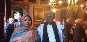 Biram Dah Abeid accompagné de son épouse en marge de la cérémonie de remise du titre de docteur honoris causa