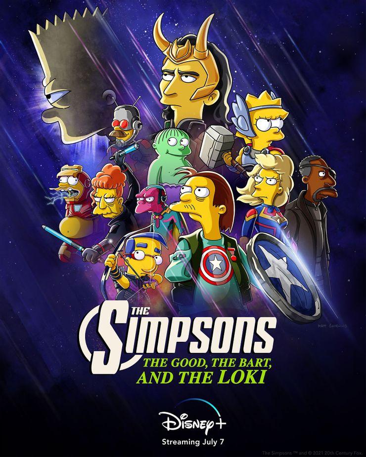 simpsons loki poster