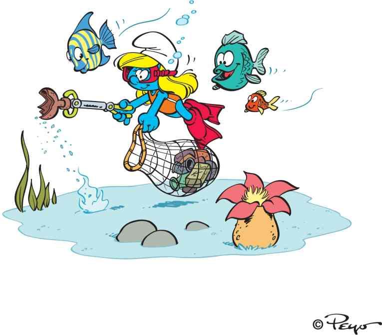 Smurfette illustration