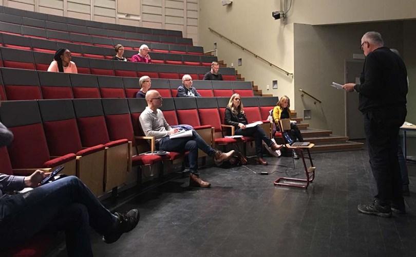 Bild från Kastellskolan aula årsmötet 2020