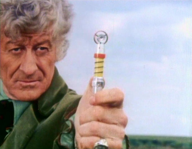 Third Doctor and sonic screwdriver