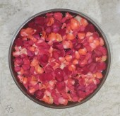 Petals in a bowl of water