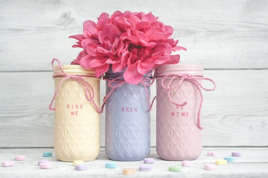 mason jar crafts, mason jar ideas, quilted mason jar
