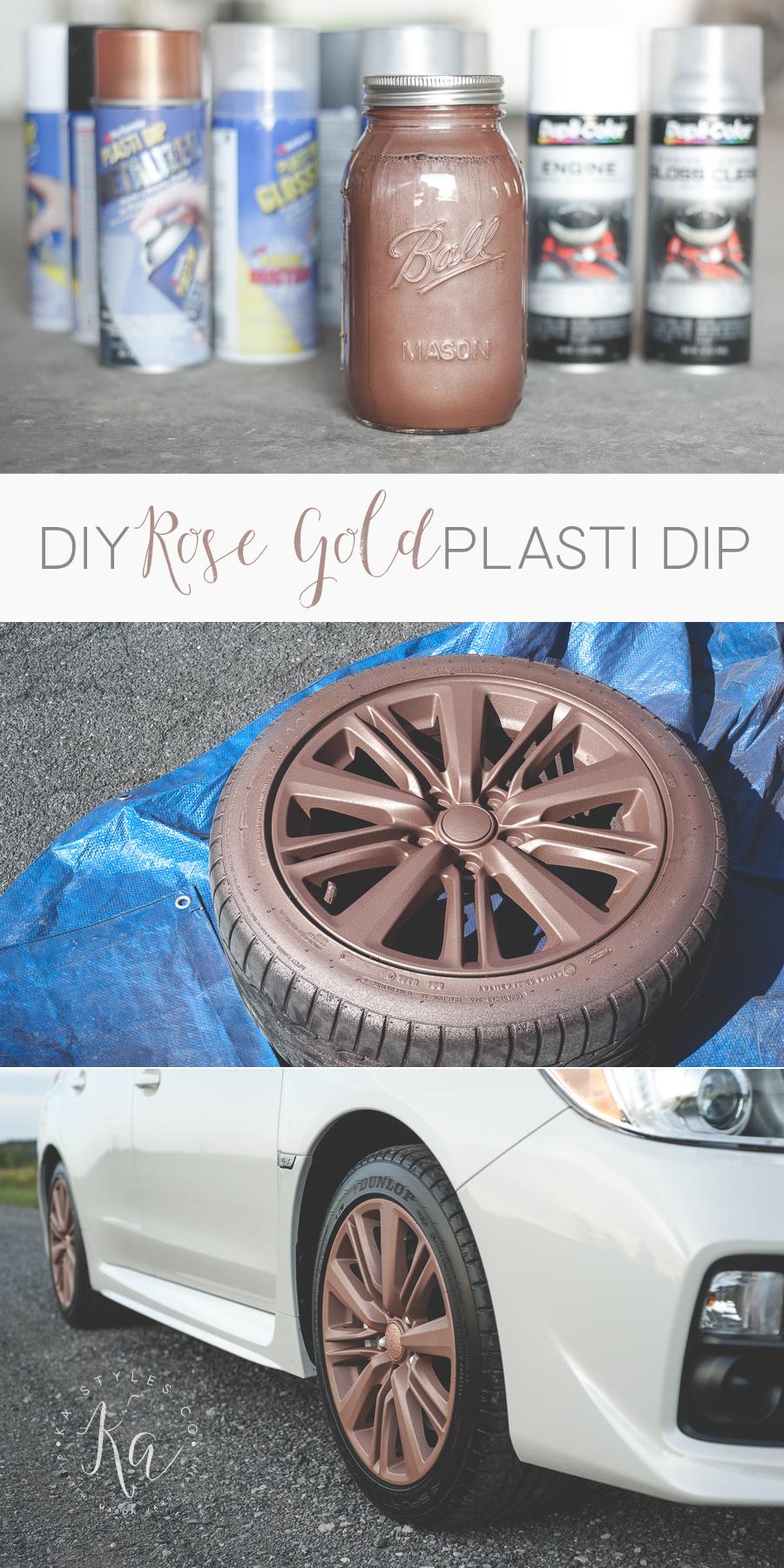 Rubber Spray Paint Plasti Dip Rose Gold Ka Styles