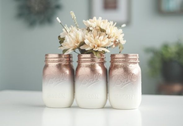 mason jar crafts, mason jar ideas, ombre mason jars