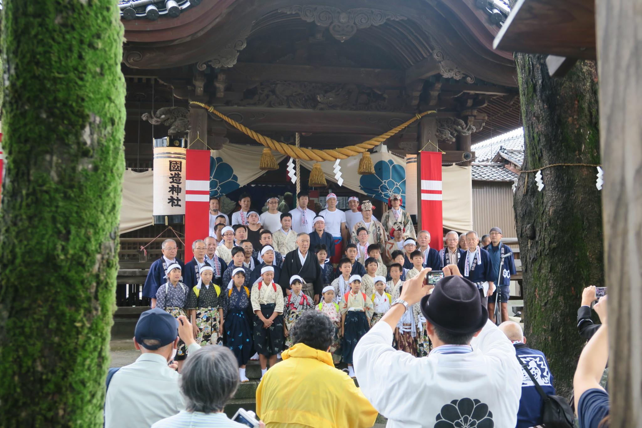 国造神社 泉獅子舞清祓式(平成30年)