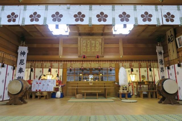 春日神社拝殿_平成31年4月