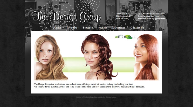 Home page for The Design Group