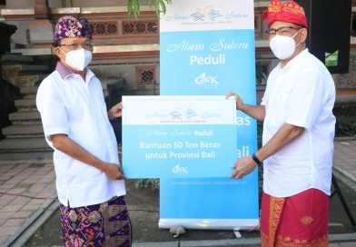 Gubernur Bali Terima Bantuan 50 Ton Beras Dari GWK