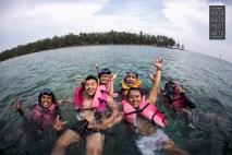 Tim GDA snorkeling