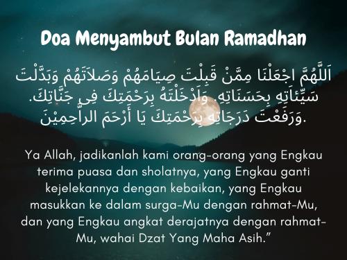 Doa Menyambut Bulan Ramadhan yang Dibaca saat Malam Pertama Ramadhan 1