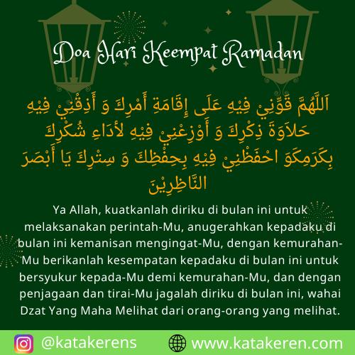 Doa Hari Keempat Ramadan