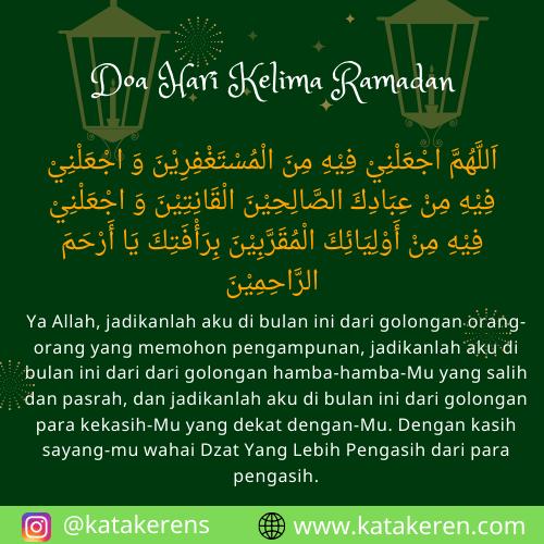 Doa Hari Kelima Ramadan