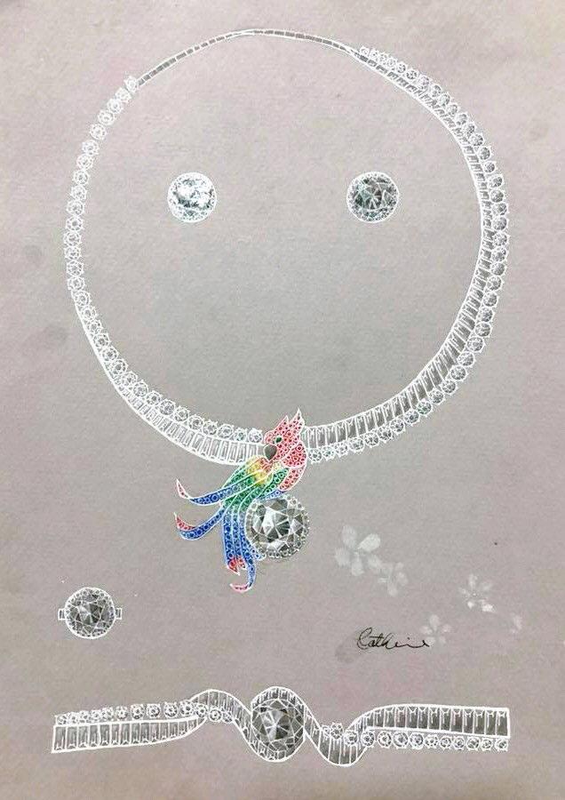 珠寶設計   套鍊習作 繽紛禮讚 Coloré