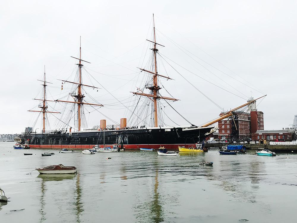 【英國 】樸茨茅斯Portsmouth 岡沃夫碼頭購物商場 X 大三角帆船斯賓奈克塔  | Gunwharf Quays outlet
