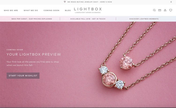 De Beers 新品牌賣人造鑽石   「Lightbox 燈箱」鎖定千禧消費族群 投下珠寶震撼彈