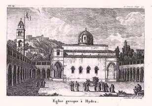 Antoine Laurent Castellan - Hydra, Elliniki ekklisia (1797)