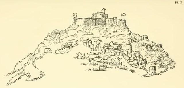 ZANTE . Zante (in 1544), by Jérôme Maurand, from his book Itinéraire d´Antibes à Constantinopl, Paris, Ernest Leroux, Editeur, 1901.