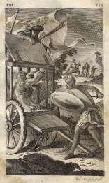 MONFORT - Don Quijote, La hazaña con el león, 1771
