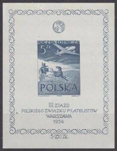 III Zjazd Polskiego Związku Filatelistów - Blok 13ND