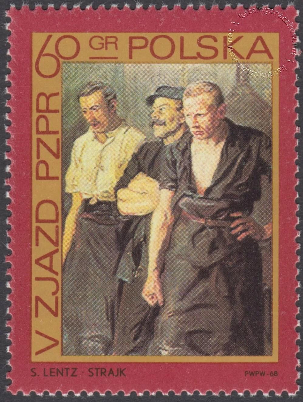 V Zjazd PZPR znaczek nr 1737