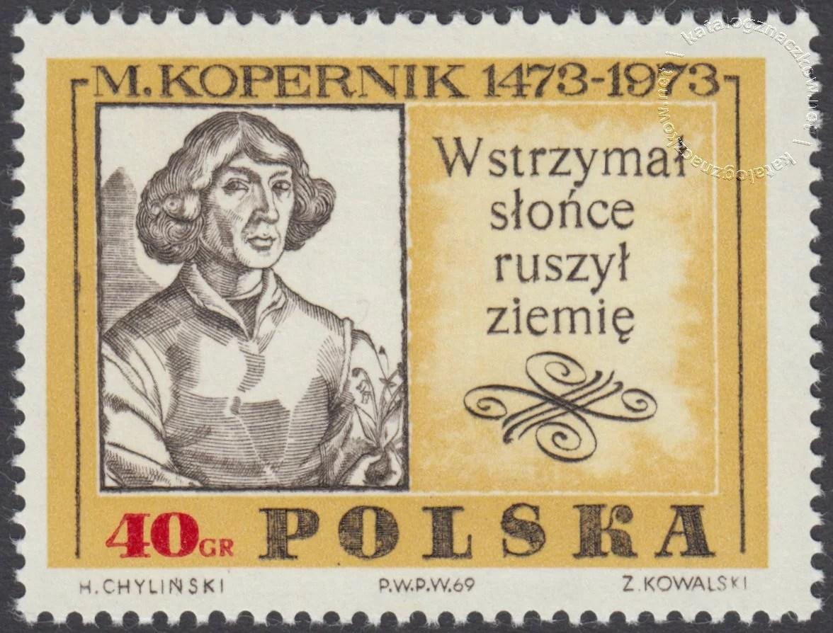500 rocznica urodzin Mikołaja Kopernika znaczek nr 1778