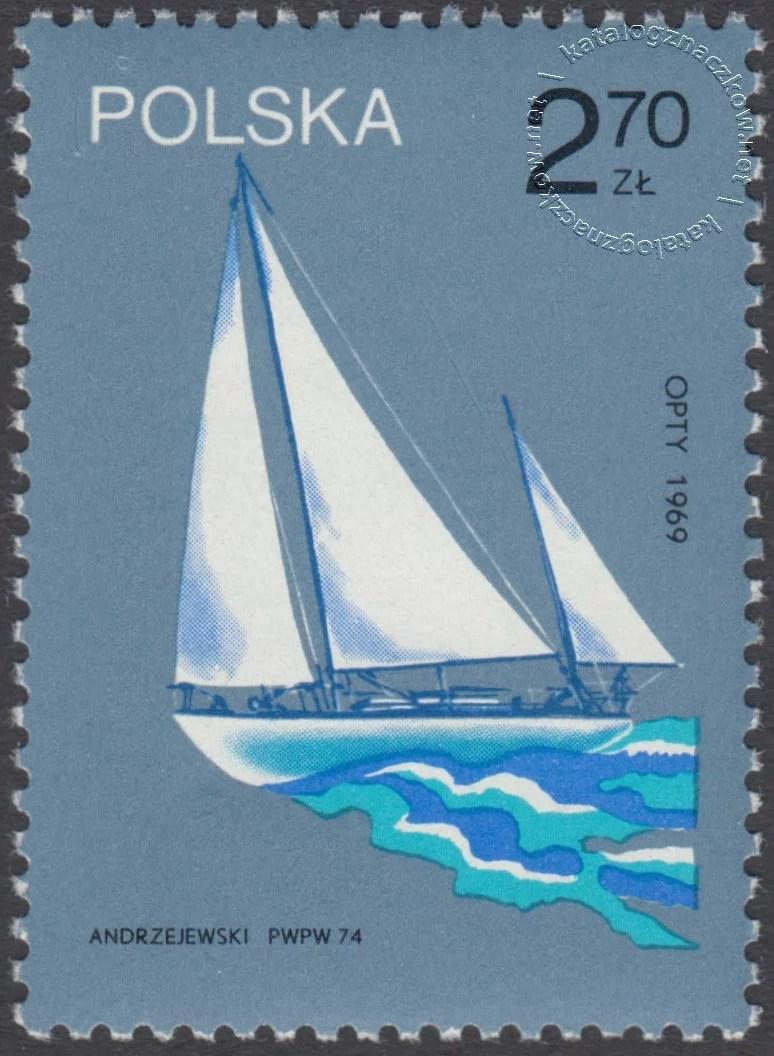 Sławne polskie żaglowce znaczek nr 2172